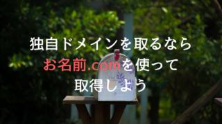 独自ドメイン取るならお名前.com