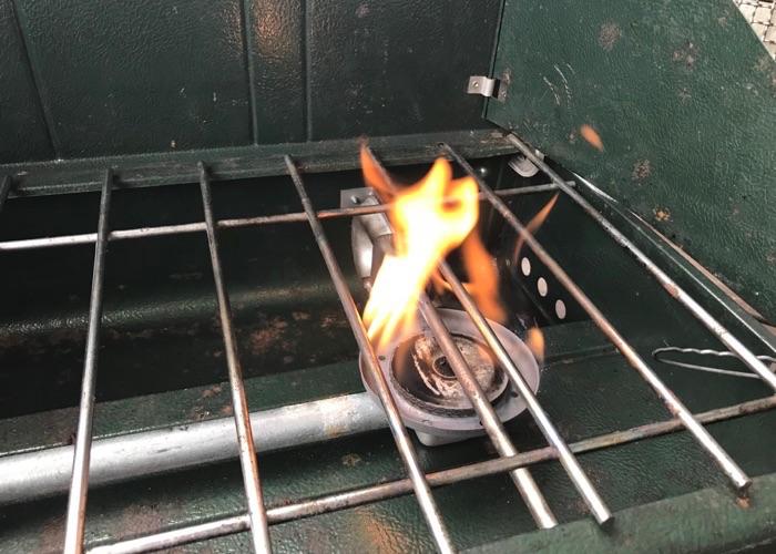 安定していない火